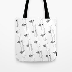 continuous typing pattern Tote Bag