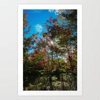 Blue Skies Above Me, Aut… Art Print
