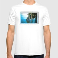 Capitola Pier Mens Fitted Tee White SMALL