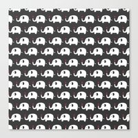 Elephants in love Canvas Print