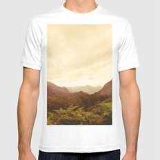 mountains (02) White Mens Fitted Tee SMALL