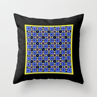 Beetles Pattern Throw Pillow