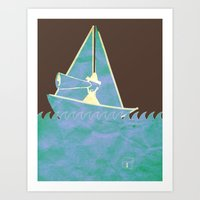 Looking in the Wrong Direction Art Print