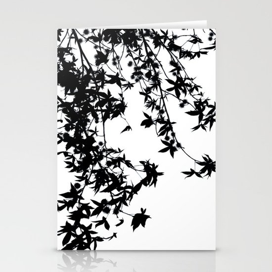 black on white Stationery Card