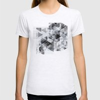 Marble Madness Womens Fitted Tee Ash Grey SMALL
