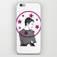 Jean Seberg//Black & White iPhone & iPod Skin