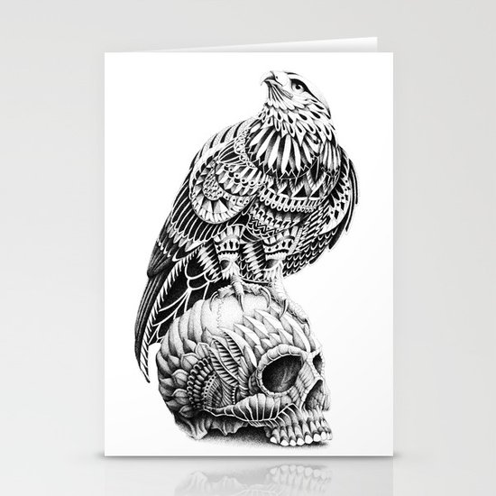 Red-Tail Skull Stationery Card