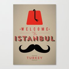 Vintage Welcome to Istanbul Poster Canvas Print