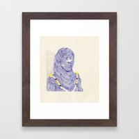 Hair Play 07 Framed Art Print