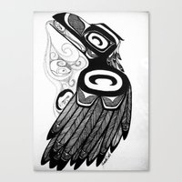Raven Steals the Water Canvas Print