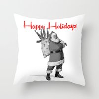 Off To The Hood  Throw Pillow