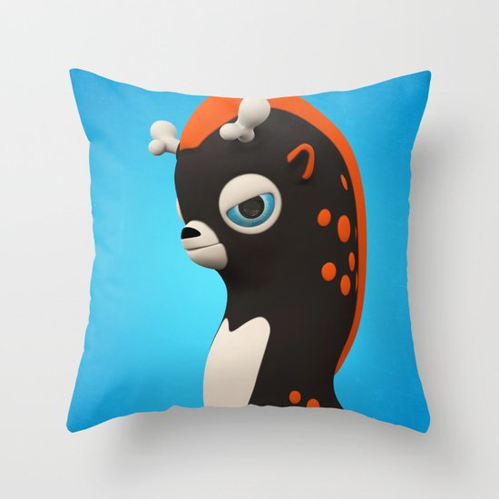 Dark Wippo Throw Pillow