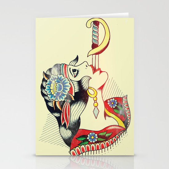 Sword Magic Girl Stationery Card