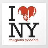 Luv New York Religious F… Art Print