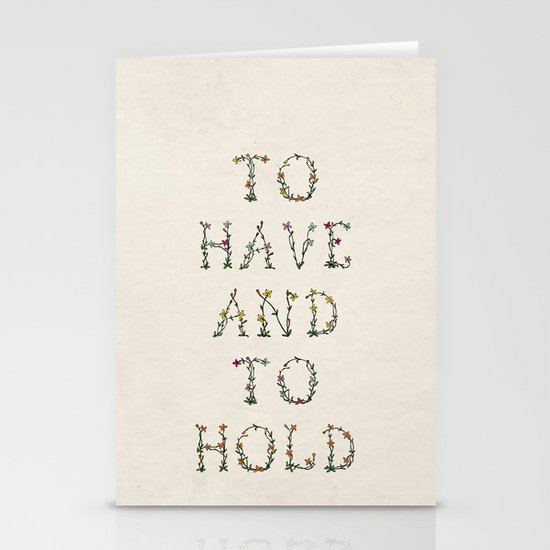To have and to hold  Stationery Card