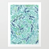 Wild Scattered Branches Art Print