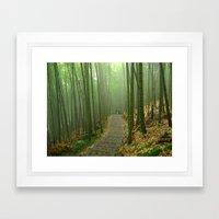 Romantic Bamboo Forest Framed Art Print