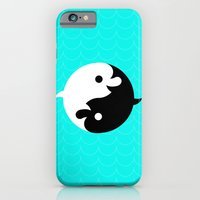 iPhone & iPod Case featuring Yin Yang Dolphins by chobopop