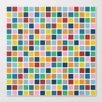 Colour Block Outline Canvas Print