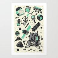 Art Print featuring Space Funk by Josh Ln
