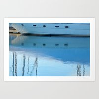 Newport Harbor Reflections Art Print