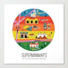 Minimap Ciudad de México by Victoria Fernández Canvas Print