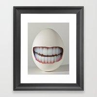 Dental Egg Framed Art Print