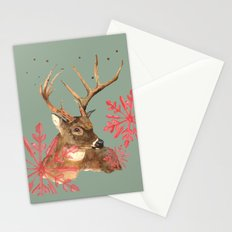 Forest Royalty, Stag, Deer, Christmas Stag, Woodland animals Stationery Cards