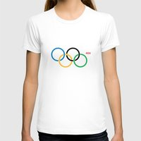 Olympic Games Rings Womens Fitted Tee White SMALL