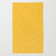Rug featuring YELLOW DOTS by Priscila Peress