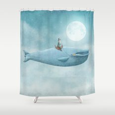 Whale Rider Shower Curtain
