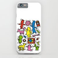 iPhone & iPod Case featuring Haring - Simpsons by Krikoui