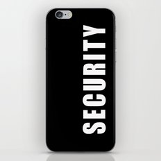 SECURITY TEE SHIRT iPhone & iPod Skin