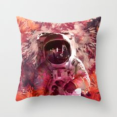 Watercolor Spaceman Throw Pillow