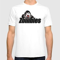 Zombie Chubby Mens Fitted Tee White SMALL