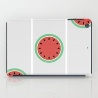 Watermelon Clock Triptych iPad Case