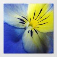 Flower Blue Yellow Canvas Print