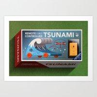 Remote Controlled Tsunami Art Print