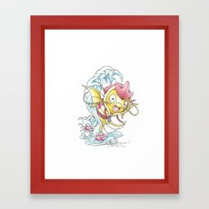 Something Seems a Little Fishy Framed Art Print