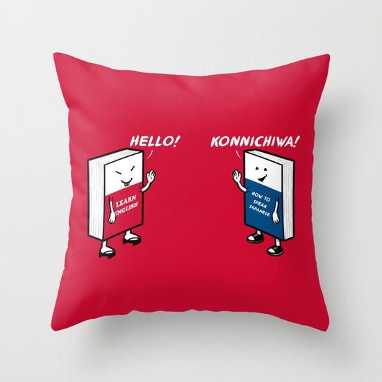 Say Hello Throw Pillow