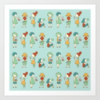 Candy Girls Art Print