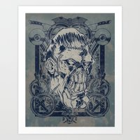 Classic Monsters Series: Franky Art Print