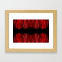 Partial Abstract V2 Framed Art Print