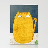 Cat-mouse friendship Stationery Cards