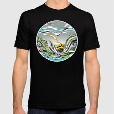 When the Earth meets the Sky Mens Fitted Tee Black SMALL