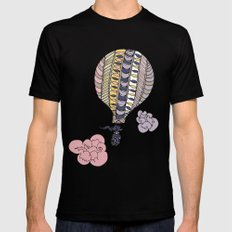 Fly away SMALL Mens Fitted Tee Black