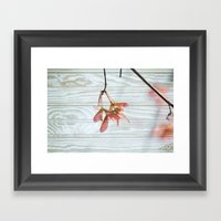 Maple Trees Can Fly Framed Art Print