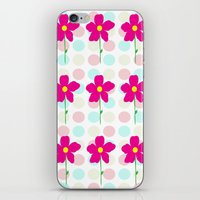 Flower.. Polka Dot iPhone & iPod Skin