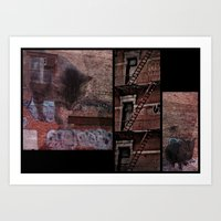Cats in the City Art Print