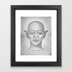 Vampire Phrenology Framed Art Print
